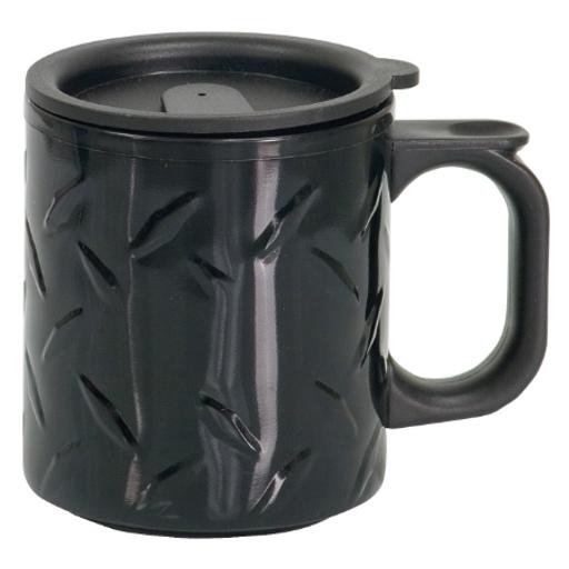 Diamond plated Travel-Mug-w-Handle-12oz